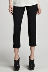 Theory Scyler Cropped Wool Skinny Pants - Lyst