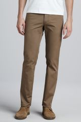 Theory Five-pocket Twill Pants Khaki - Lyst