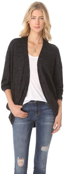 Three Dots Cocoon Cardigan - Lyst