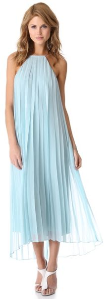 Tibi Pleated Chiffon Dress - Lyst