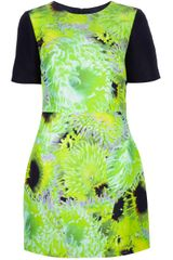 Tibi Flower Print Shift Dress - Lyst