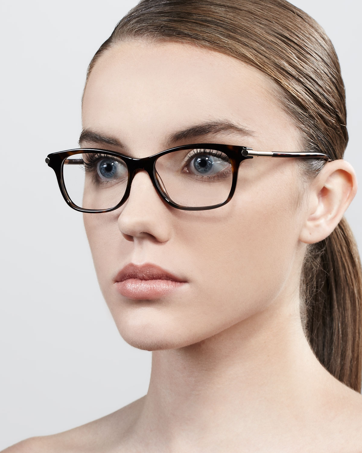 0206cd58041 Lyst - Tom Ford Shiny Temple Fashion Glasses Havana in Brown