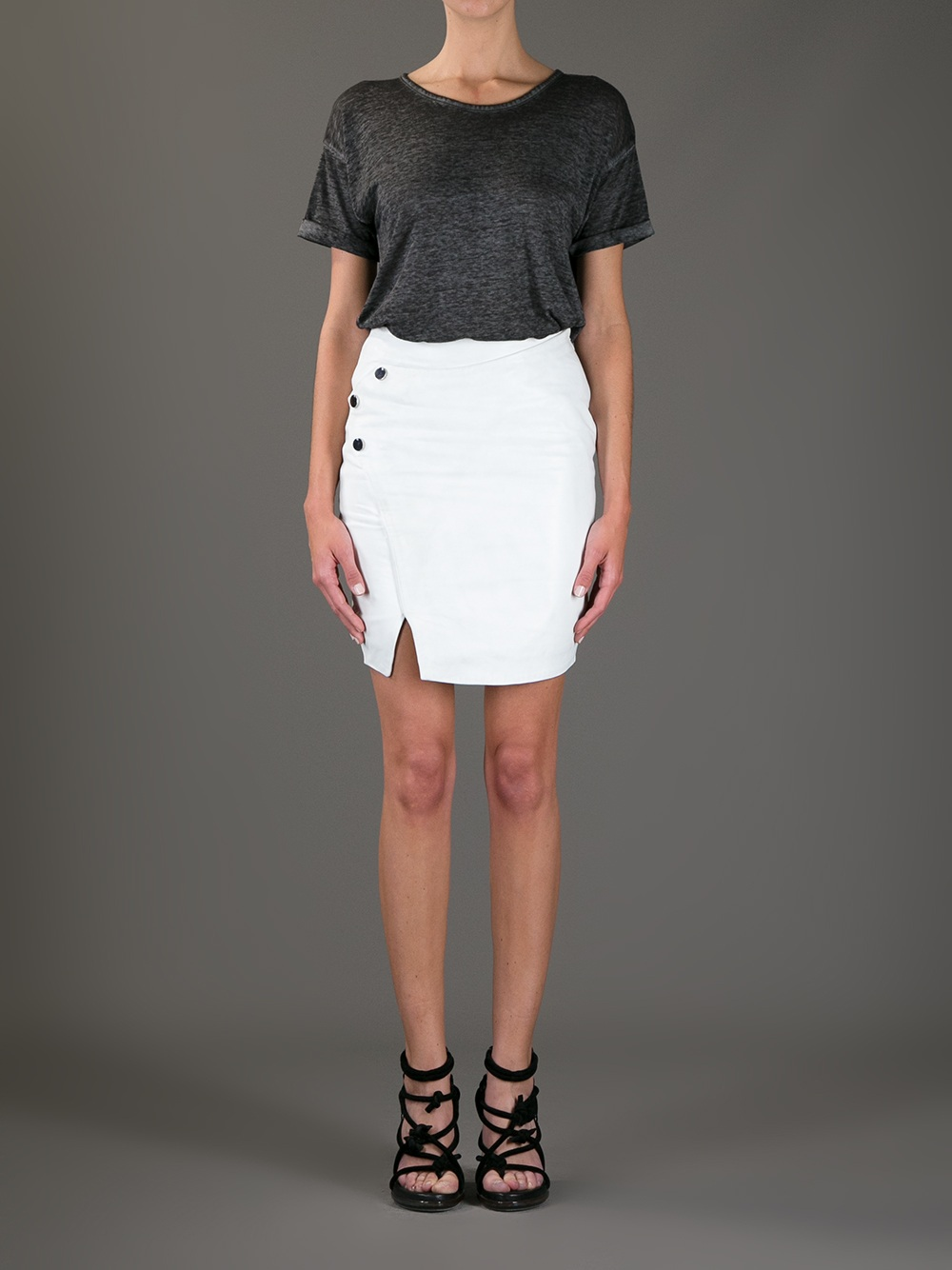 Twenty8twelve Wrap Around Pencil Skirt in White | Lyst