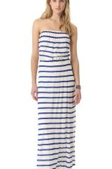 Velvet Bria Striped Maxi Dress - Lyst