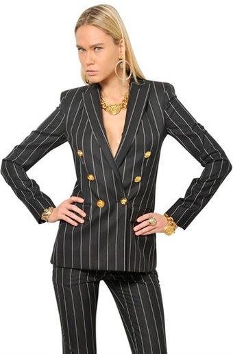 Versace Pin Stripe Cool Wool Jacket - Lyst