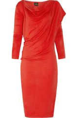 Vivienne Westwood Anglomania Toga Draped Stretchjersey Dress - Lyst