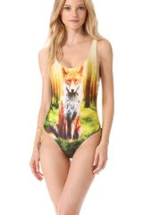 We Are Handsome Gather One Piece Swimsuit - Lyst