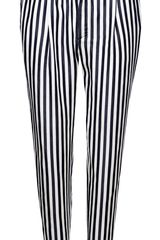 Zara Pleated Striped Trousers - Lyst