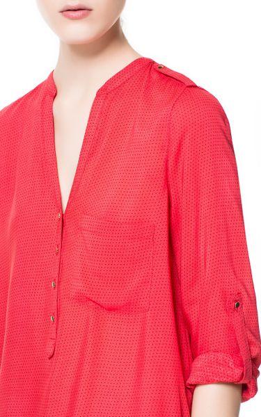 Zara Red Polka Dot Blouse 68