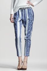 10 Crosby by Derek Lam Lizardprint Slouchy Pants - Lyst