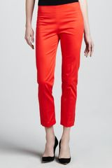 Adrienne Vittadini Cropped Side Zip Pants  - Lyst