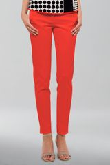 Akris Punto Franca Highwaist Cropped Pants Tomate - Lyst