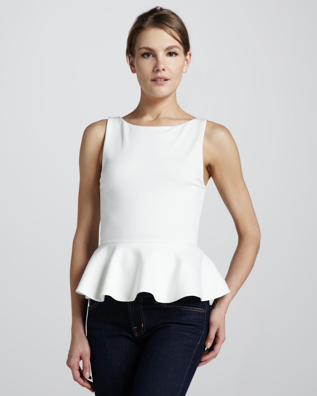 22a403c8451c7 Brand-new Lyst - Alice + Olivia Alice Olivia Sleeveless Ponte Peplum Top  NV08