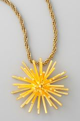 Aurelie Bidermann Starburst Pendant Necklace - Lyst