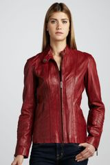 Bagatelle Leather Scuba Jacket - Lyst