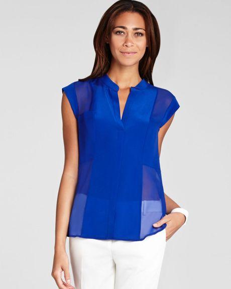 Women'S Royal Blue Blouse 25