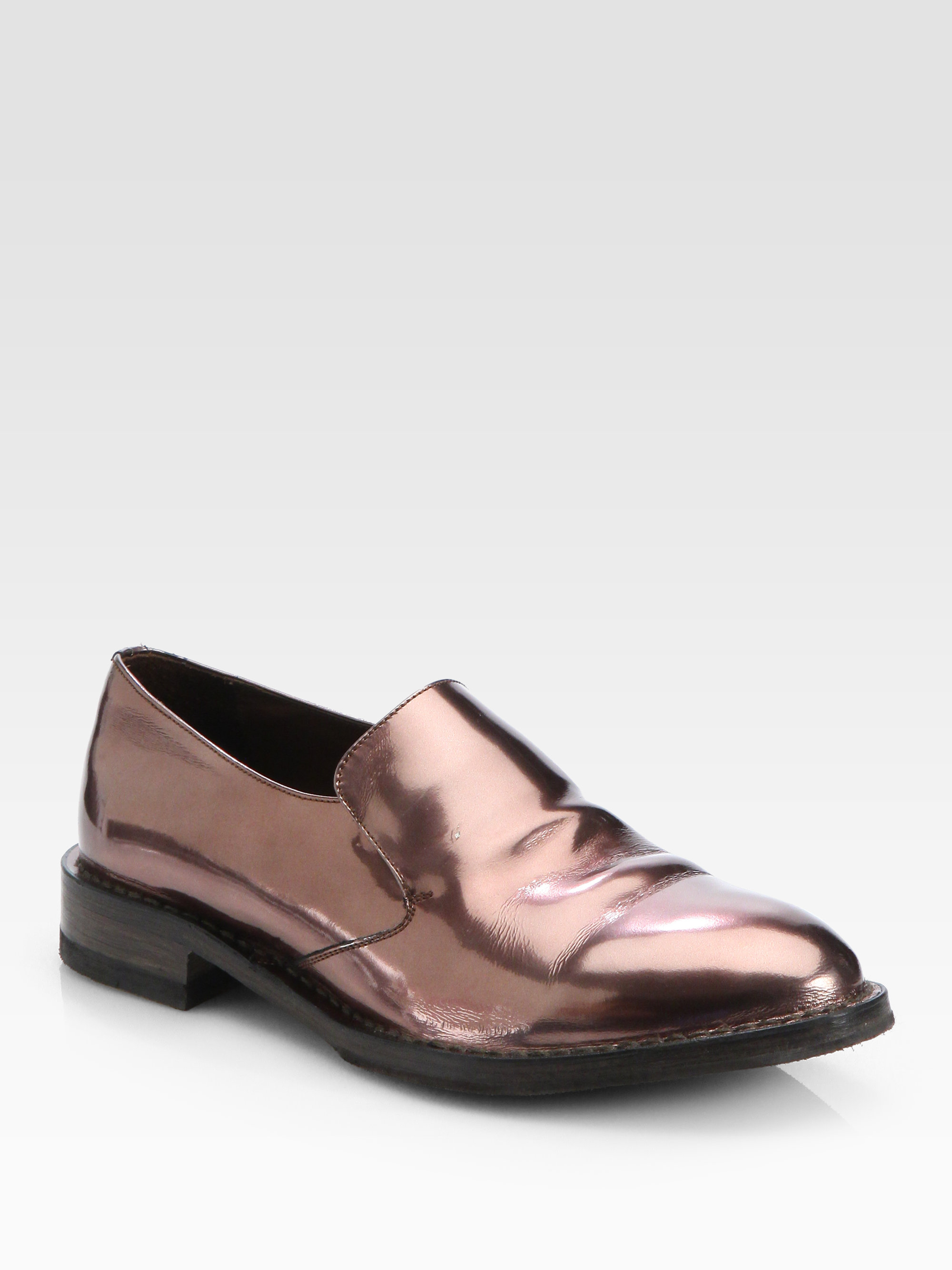 Brunello Cucinelli Metallic Leather Loafers perfect gTmCi