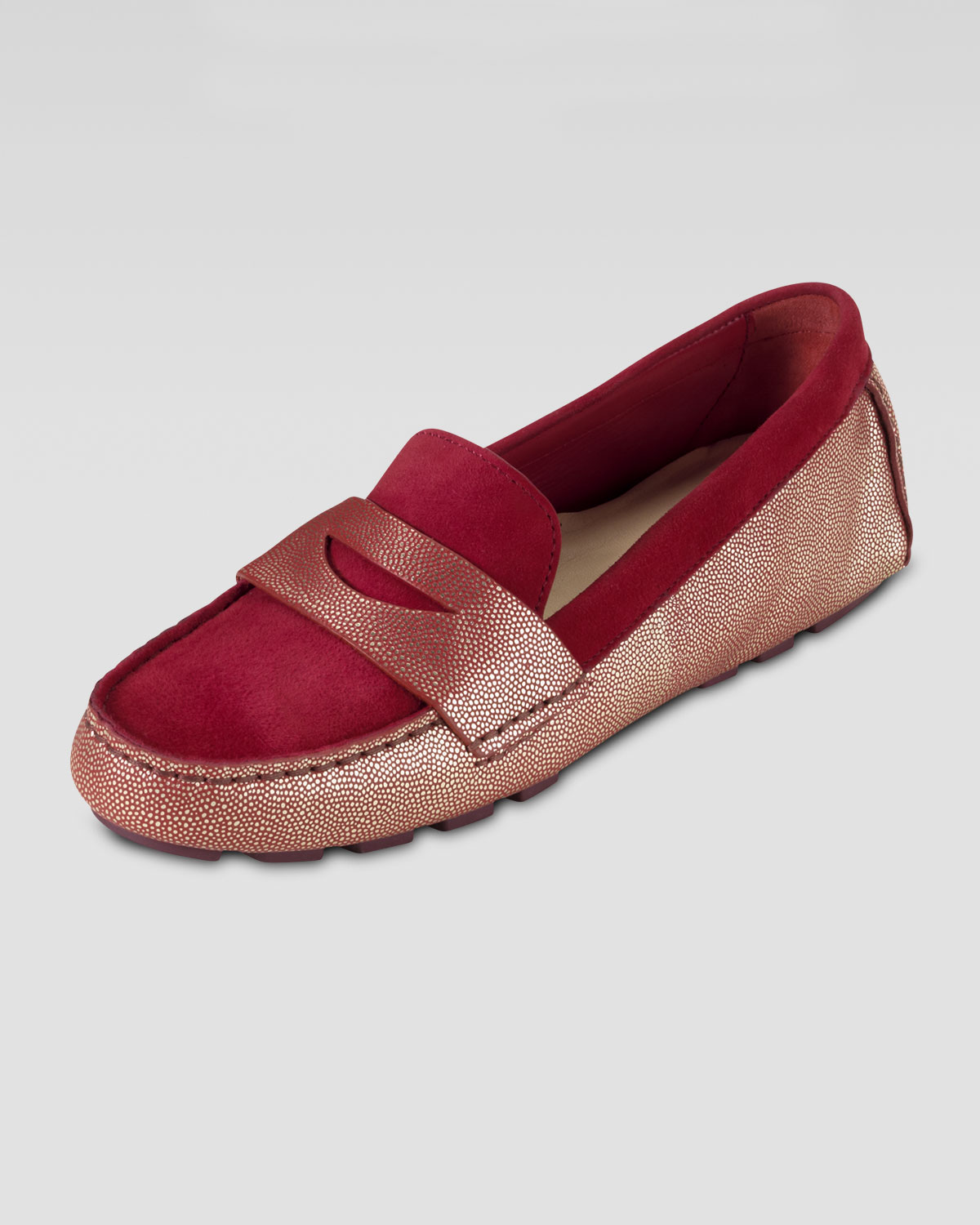 760f8a05c55 Lyst - Cole Haan Air Sadie Suede Driver Moccasin in Red