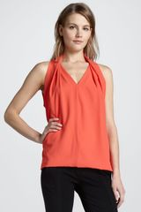 Diane Von Furstenberg Reagan Draped Sleeveless Top  - Lyst