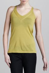 Donna Karan New York Sleeveless Cashmeresilk Top - Lyst