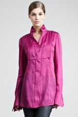 Donna Karan New York Tailored Organza Shirt - Lyst