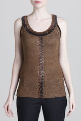 Donna Karan New York Beaded Crochet Tank - Lyst