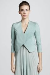 Donna Karan New York Folded Crepe Jacket Jade - Lyst
