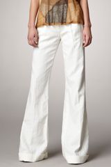 Donna Karan New York Wideleg Pants Parchment - Lyst