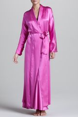 Donna Karan New York Glamour Silk Robe - Lyst