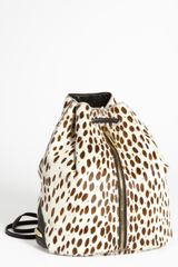 Elizabeth And James Spotted Calf Hair Backpack - Lyst