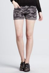 Haute Hippie Cotton Camo Shorts - Lyst