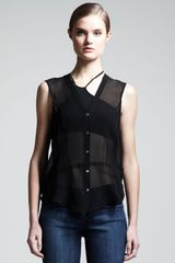 Helmut Helmut Lang Ghost Silk Top Black - Lyst
