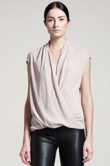 Helmut Lang Soft Shroud Twist Top - Lyst