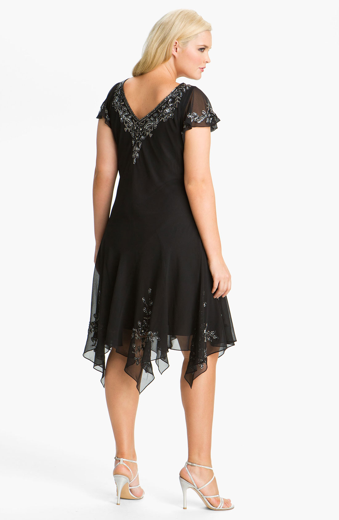 Amazing J Kara Beaded Mock Two Piece Chiffon Gown Festooning ...