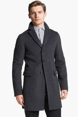 Jil Sander Three Button Wool Overcoat - Lyst