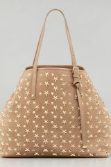 Jimmy Choo Sasha Starstudded Tote Bag Buff - Lyst