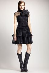 Lanvin Tiered Crinoline Dress - Lyst