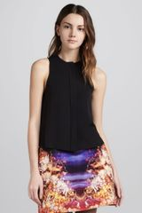 McQ by Alexander McQueen Sleeveless Buttonfront Top - Lyst