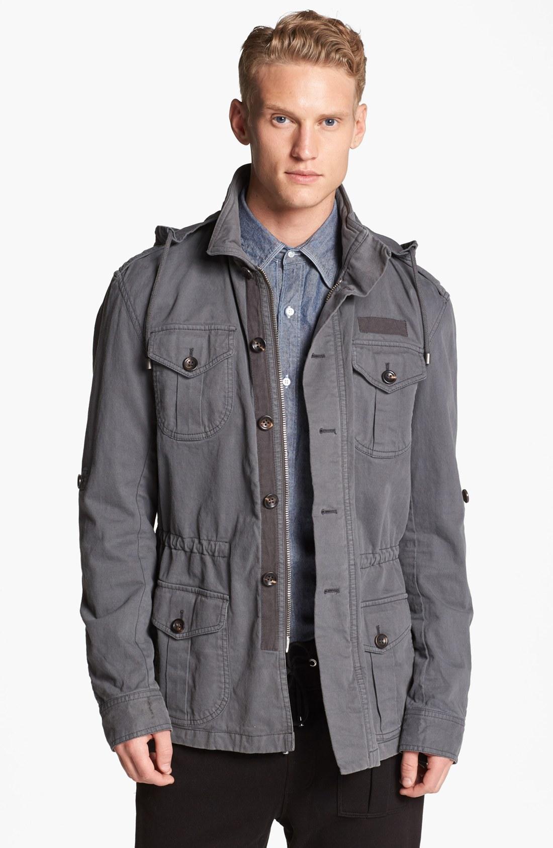 Michael bastian Military Field Jacket in Gray for Men | Lyst