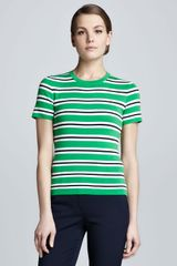 Michael Kors Striped Knit Top - Lyst