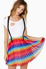 Nasty Gal Refraction Suspender Skirt - Lyst