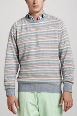 Peter Millar Striped Raglan Sweater - Lyst