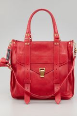 Proenza Schouler Ps1 Small Tote Bag Lipstick - Lyst