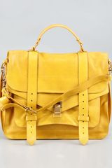 Proenza Schouler Ps1 Large Satchel Bag Mustard - Lyst