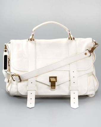 Proenza Schouler Ps1 Large Satchel Bag White - Lyst