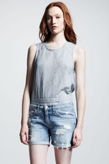 Rag & Bone Womens Tattered Boyfriend Shorts - Lyst