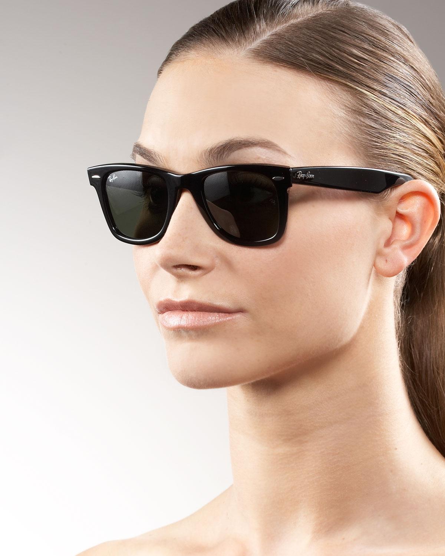 155b2f864a ... shopping lyst ray ban original wayfarer sunglasses tortoise in black  cb8a2 0767a