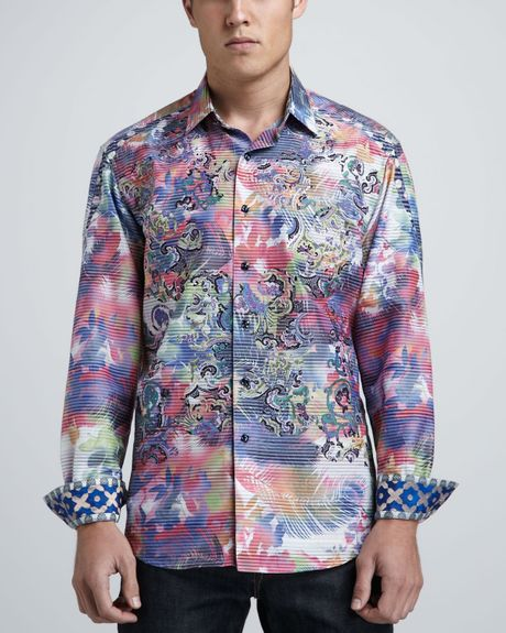 Robert Graham Limited Edition Laser Art Sport Shirt in ... Robert Graham Designer