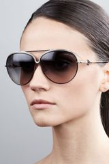 Roberto Cavalli Logotemple Aviator Sunglasses Black - Lyst
