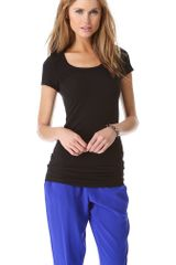 Splendid Layers Scoop Neck Tee - Lyst
